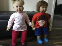 """25"""" Girl and Boy doll £20.00 for both"""
