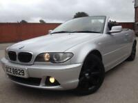 53 REG BMW 320CI CONVERTABLE FULL BLACK LEATHERS HPI CLEAR NOT GOLF GTI SAAB 320D TYPE R 120D 325CI