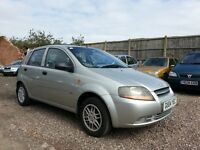 2004 Daewoo KALOS 1.2 PETROL,, LOW MILEAGE WARRANTED, EXCELLENT CONDITION