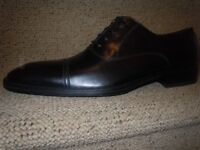 MENS BLACK SMART SHOES BY DOUCAL'S