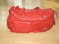 Il Tutto Mia Red Leather Changing bag