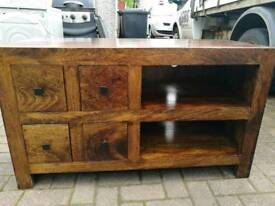 Solid wood tv unit and table set