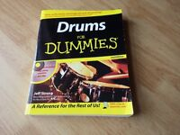 Drums for Dummies book & CD - excellent condition!