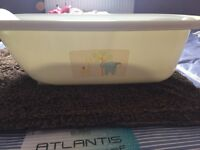 Baby bath & matching top & tail bowl