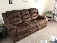 Brown 2 and 3 seater sofas only 8 months old