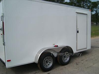 New 6x12 6 X 12 V-nose Enclosed Cargo Trailer W Ramp - New 2019