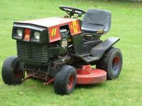 Westwood T1600 Ride on mower with sweeper Starts runs cuts drives OK needs a battery