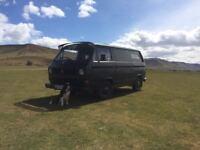 Black Volkswagen T25 Camper van Surf van LPG Petrol 71,600 miles