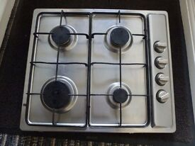 BELLING BRUSHED STAINLESS GAS HOB
