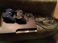 PS3 320GB slim with games and two controllers