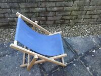 Child folding deck chair for 2-6 year old. Two matching chairs