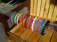 13 x BRAND NEW COLOURFUL HAIRBANDS