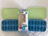 Weaning/breast milk pots with trays
