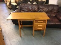 1950/60 extending office desk with drawers