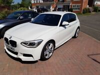 White BMW 1 series M Sport