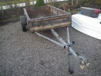 Trailer 8x4 feet box with long tow bar £400.