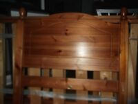 Wooden Bed with Guest Bed underneath Inc Mattresses
