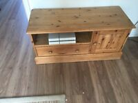 lovely solid wood TV stand