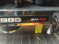 La Cimbali dual group head commercial coffee machine with La Cimbali Grinder