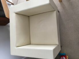 Retro cube leather chair £70