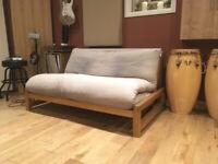 Futon Company Linear 2 Seater Birch Double Sofa Bed
