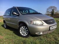 2003 CHRYSLER VOYAGER LX AUTOMATIC ONLY 57000 MILES FULL SERVICE HISTORY 7 SEATS