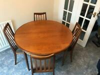 G plan dining table and chairs for sale  Billingham, County Durham