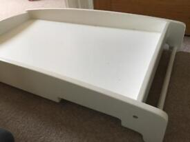 Mamas & papas (m&p) white changing table for above cot / cotbed - top changer