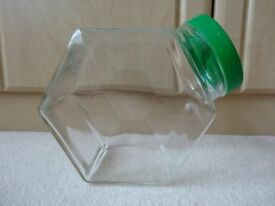 Hexagonal Storage Jars