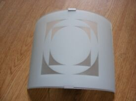 Retro style frosted glass wall light fitting