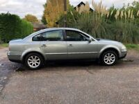 2004 VOLKSWAGEN PASSAT HIGHLINE 130 4 DOOR SALOON, LEATHER, DRIVES LIKE NEW. ALLOYS LONG MOT.