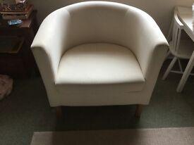 Cream/off white bucket armchair (Ikea)
