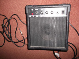 BB Blaster BB10 Lead Guitar 10w Practice Amplifier + phono cable