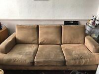 3 seater sofa leather effect