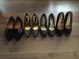 Ladies shoe bundle, size 3/36