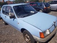 1986 PEUGEOT 205 1.8 DEISEL..CLEARANCE..NO OFFERS