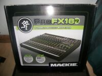 Never Used ! Mackie ProFX16 V2 , Professional Mixer + USB Recording Interface . Setup via Mac or PC.