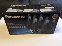Panasonic KX-TGH224 4 Handsets Phone with Answering Machine