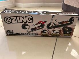 Brand new zinc folding inline scooter