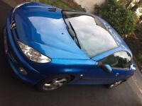 Peugeot 206cc Convertible only 66000miles MOT August 2018