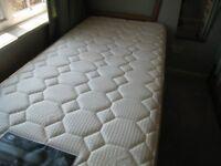 Single Divan Bed with Two Drawer Base & Posturepedic Mattress