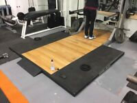 Hammer strength deadlift platform