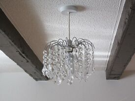 3 glass droplet lampshades