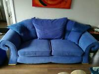 Blue Designer DFS Sofa 3 Seater / 2 Seater and a 1 Seater