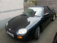 1998 MG MGF convertible soft top full mot might swap for motorbike