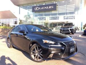2014 Lexus IS 250 F Sport Executive Pkg Navi Backup Cam Sunroof