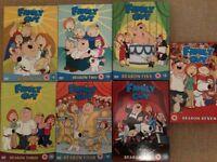 Family Guy DVD Box Sets Season 1-7