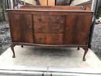 Solid wood vintage Queen Anne Sideboard