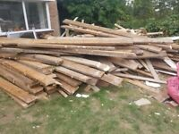 FREE OFF CUT WOOD FROM FLOOR JOISTS AND FLOORING