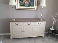 Bentley designs large grey sideboard. Only 3 months old cost £899. Grey washed oak top